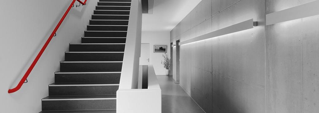öffentliche bauten schreinerei fehlmann ag müllheim bäder küchen wohnen arbeitsräume moderne ausstellung